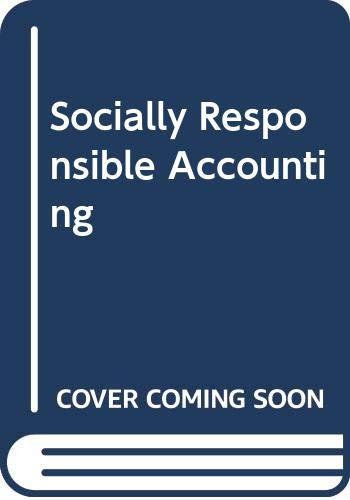 Socially Responsible Accounting: Mathews, M. R.