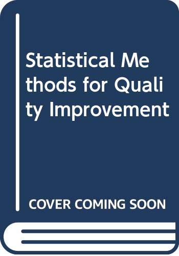 9780412489600: Statistical Methods for Quality Improvement