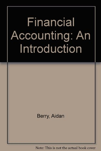 9780412492501: Financial Accounting: An Introduction