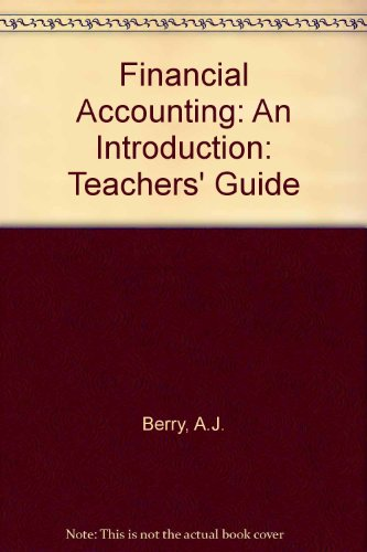 9780412545801: Financial Accounting: An Introduction: Teachers' Guide