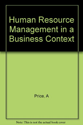 9780412572302: Human Resource Management in a Business Context (Business in Context Series)