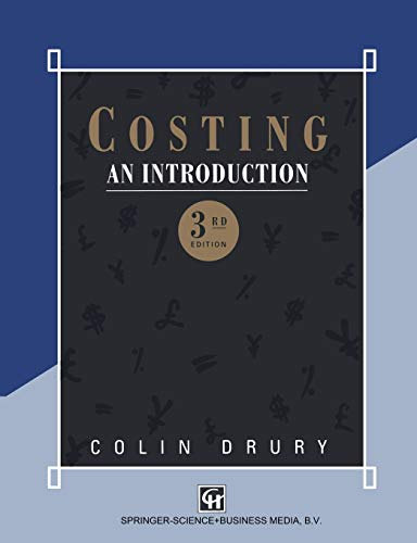 Costing: An Introduction: Colin Drury