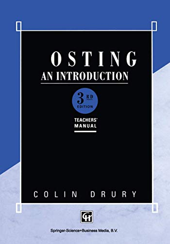 Costing: an Introduction: Teachers Manual: Drury, Colin