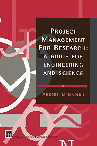 9780412588907: Project Management for Research: A Guide for Engineering and Science