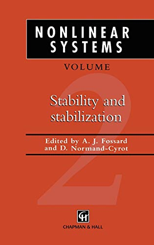 9780412600005: Nonlinear Systems, Volume 2: Stability and Stabilization (v. 1)