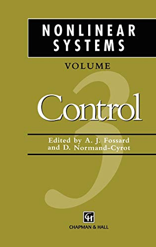 9780412600104: Nonlinear Systems, Volume 3: Control (v. 1)