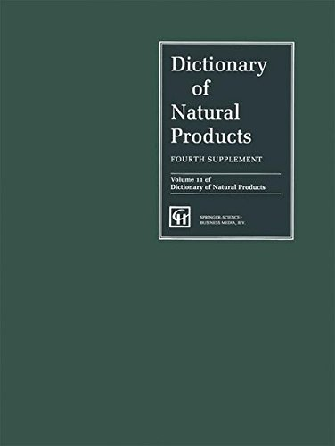 9780412604409: Dictionary of Natural Products, Supplement 4 (DICTIONARY OF NATURAL PRODUCTS, ANNUAL SUPPLEMENTS)
