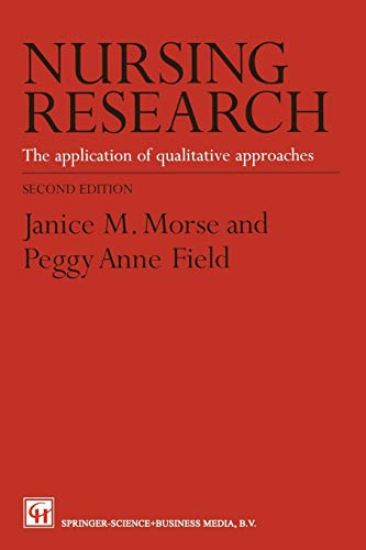 9780412605109: Nursing Research: The Application of Qualitative Approaches
