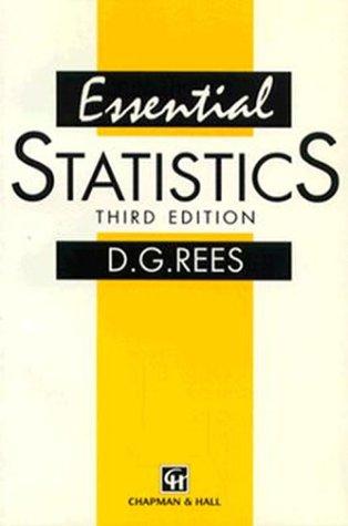 9780412612800: Essential Statistics, Third Edition
