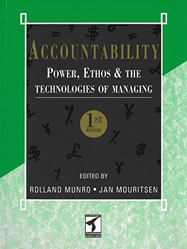 9780412625602: Accountability: Power, Ethos and The Technologies of Managing