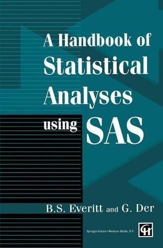9780412710506: Handbook of Statistical Analyses Using SAS