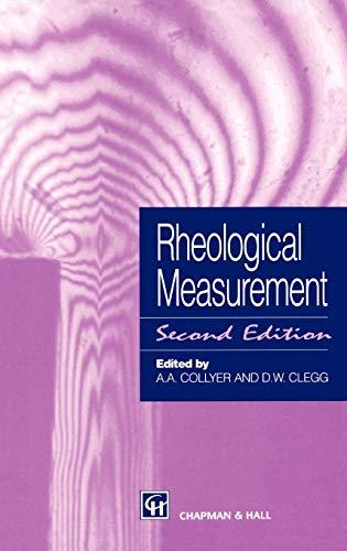 9780412720307: Rheological Measurement
