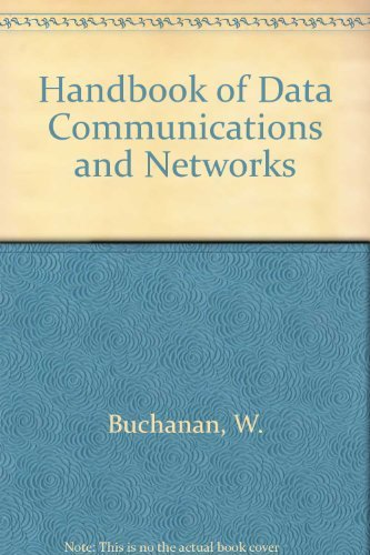 9780412840609: Handbook of Data Communications and Networks (Telecommunications Technology and Applications Series (Closed))