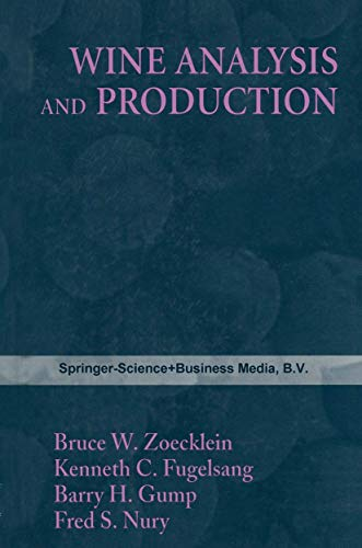 9780412982415: Wine Analysis & Production (Chapman and Hall Enology Library)