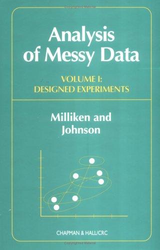9780412990816: Analysis of Messy Data, Volume I: Designed Experiments
