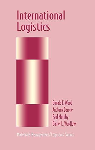 9780412992216: International Logistics (Chapman & Hall Materials Management/Logistics Series)