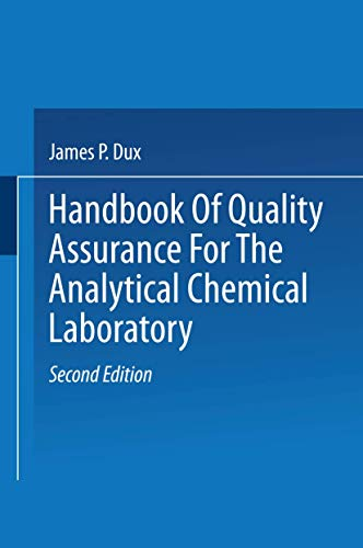 9780412992513: Handbook of Quality Assurance for the Analytical Chemistry Laboratory