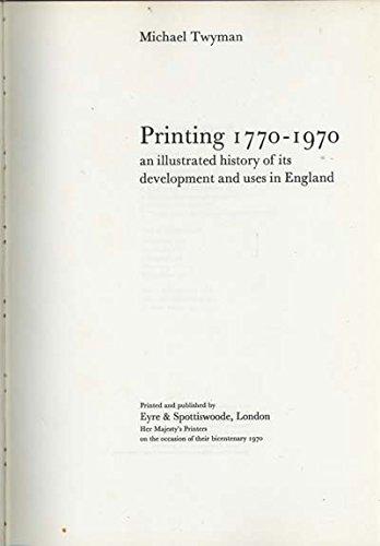 9780413264206: Printing, 1700-1970