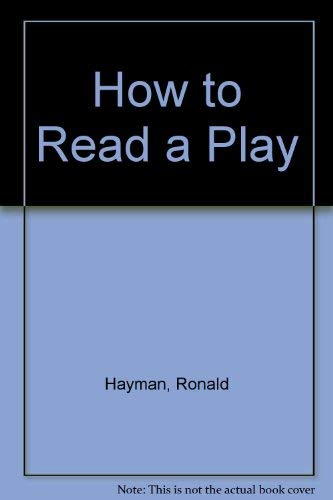 9780413333001: How to read a play