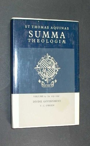 9780413351401: Summa Theologiae: Divine Government v. 14 (Latin and English Edition)