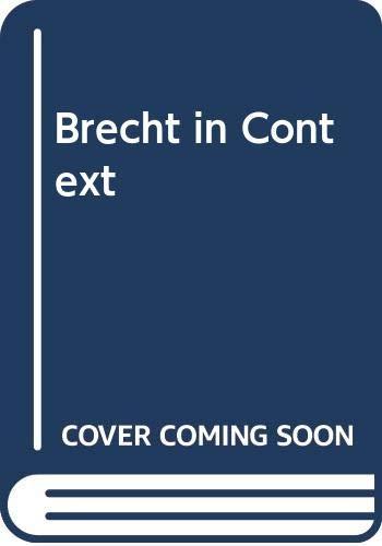 9780413409607: Brecht in Context