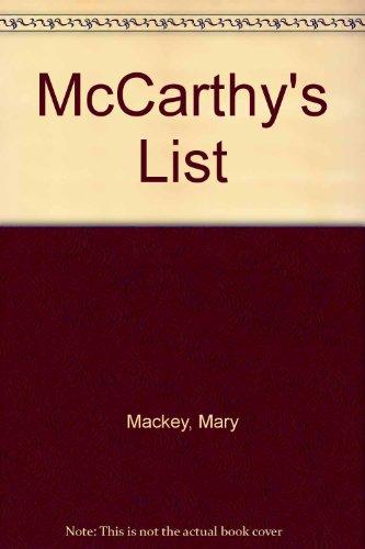 9780413468109: McCarthy's List