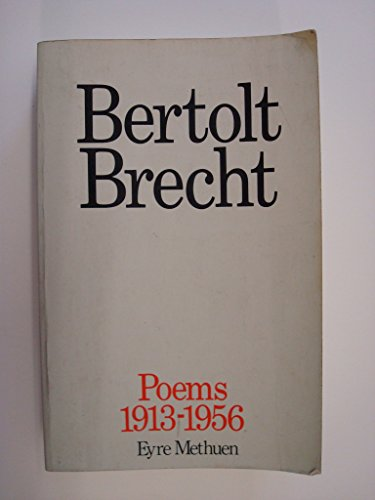 9780413487902: Poems: 1913-56 Pts. 1-3 in 1v (Bertolt Brecht: Plays, Poetry & Prose)
