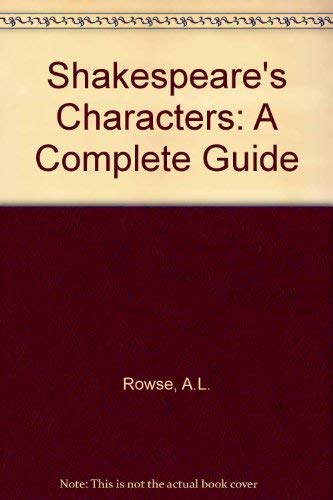 Shakespeare's Characters: Rowse A. L.