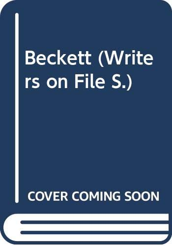9780413585103: Beckett (Writers on File S.)