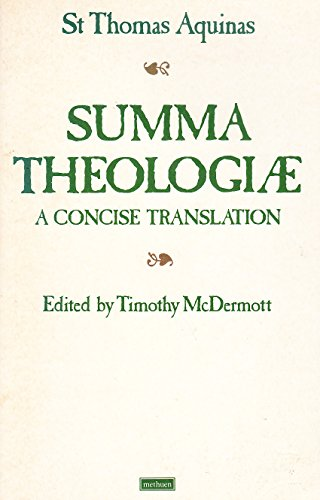 9780413653000: SUMMA THEOLOGIAE a concise translation
