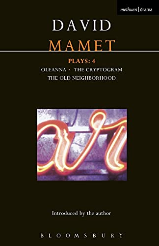 9780413771322: Mamet Plays: 4: Crytogram; Oleanna; The Old Neighborhood (Contemporary Dramatists) (v. 4)