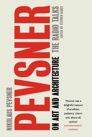 9780413772442: Pevsner on Art and Architecture: The Radio Talks