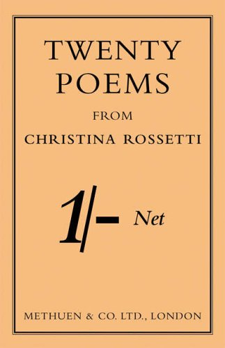 9780413775061: Selected Poems of Christina Rossetti (Methuen Shilling)