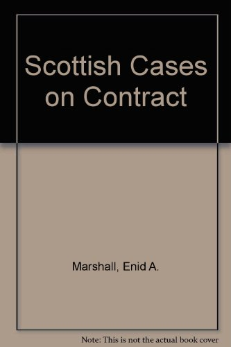 9780414006287: Scottish Cases on Contract
