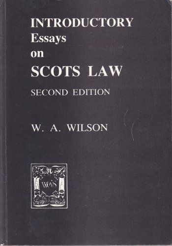 scottish law essays Scottish legal dissertation regarding the fate of corroboration under scots law if you'd like your law dissertation published, contact us here corroboration in scots law is a rule which remains a fundamental element in the conviction of a charge 1.