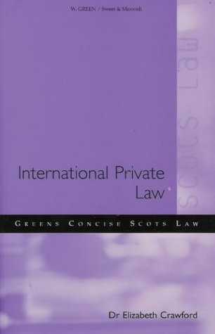 9780414009363: Private International Law
