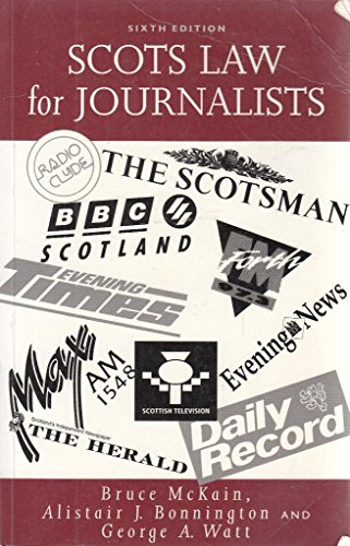 9780414010055: Scots Law for Journalists