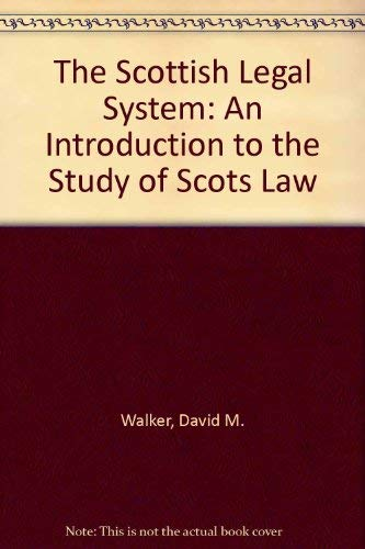 9780414010123: The Scottish Legal System