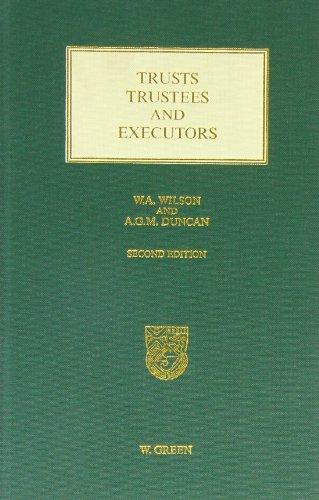9780414010277: Trusts, Trustees and Executors