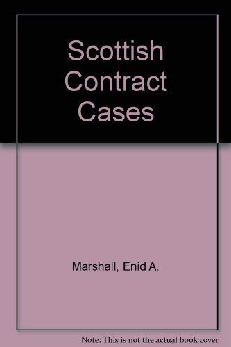 9780414010529: Scottish Contract Cases