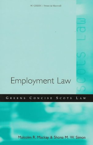 9780414010901: Employment Law (Green's Concise Scots Law)