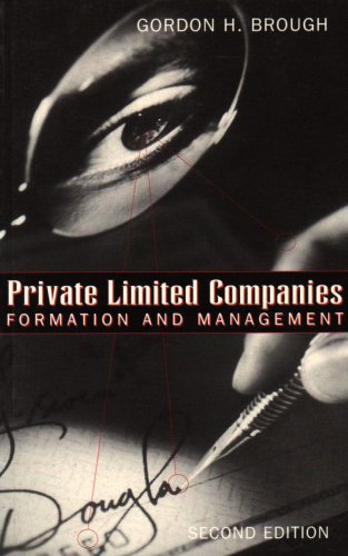 9780414012240: Private Limited Companies: Formation & Management