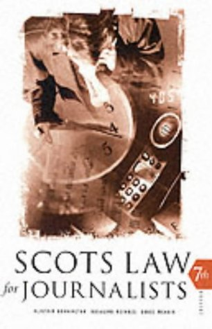 9780414013728: Scots Law for Journalists