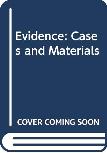 9780414013872: Evidence: Cases and Materials