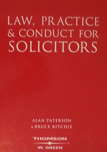 9780414014398: Law, Practice & Conduct for Solicitors