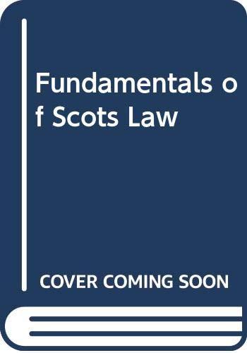Fundamentals of Scots Law: Ashton, Christina, Brand,