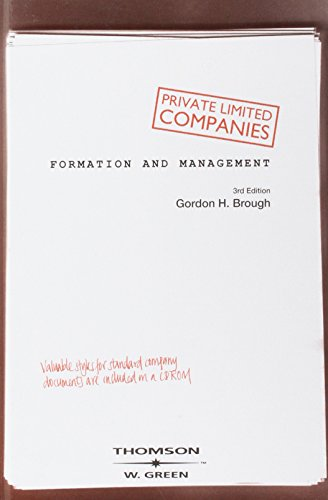 9780414015982: Private Limited Companies: Formation & Management: Formation and Management