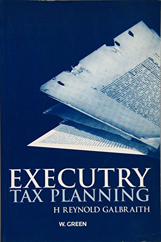 9780414017368: Executry Tax Planning