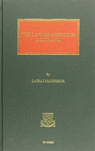 9780414018051: The Law of Agency in Scotland
