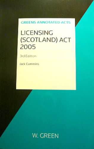 Licensing (Scotland) Act: Cummins, Jack
